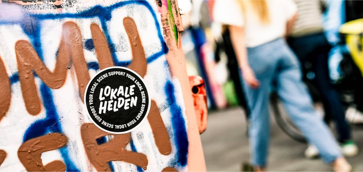 Lokale helden sticker foto